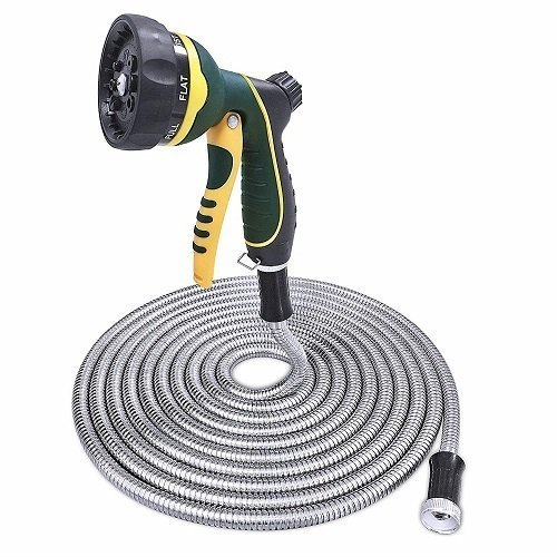 TheFitLife Stainless Steel Metal Garden Hose