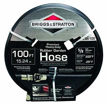 Briggs and Stratton Rubber Garden Hose