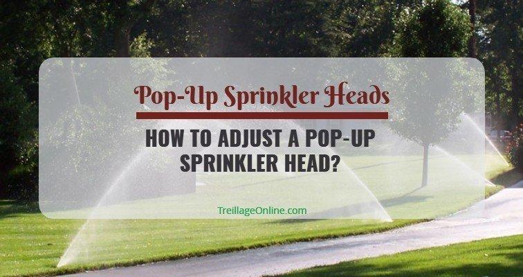 How to Adjust a Pop-Up Sprinkler Head