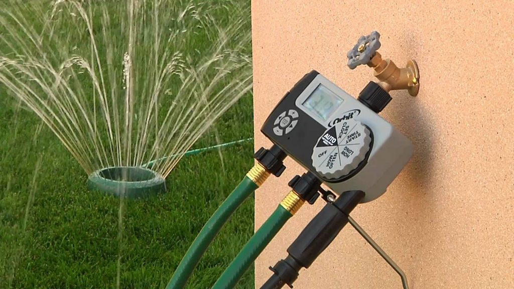 Installing a timer system for irrigation sprinklers