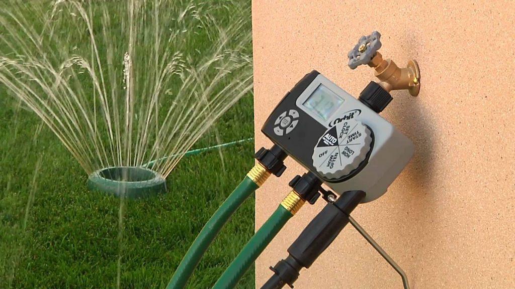 Installing a timer system for irrigation sprinklers