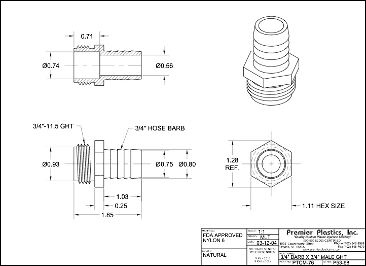 Garden Hose Connector Size