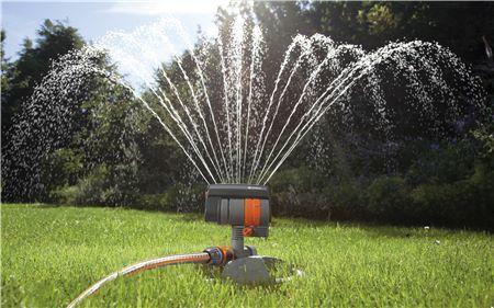 Gardena ZoomMaxx Oscillating Sprinkler in Operation
