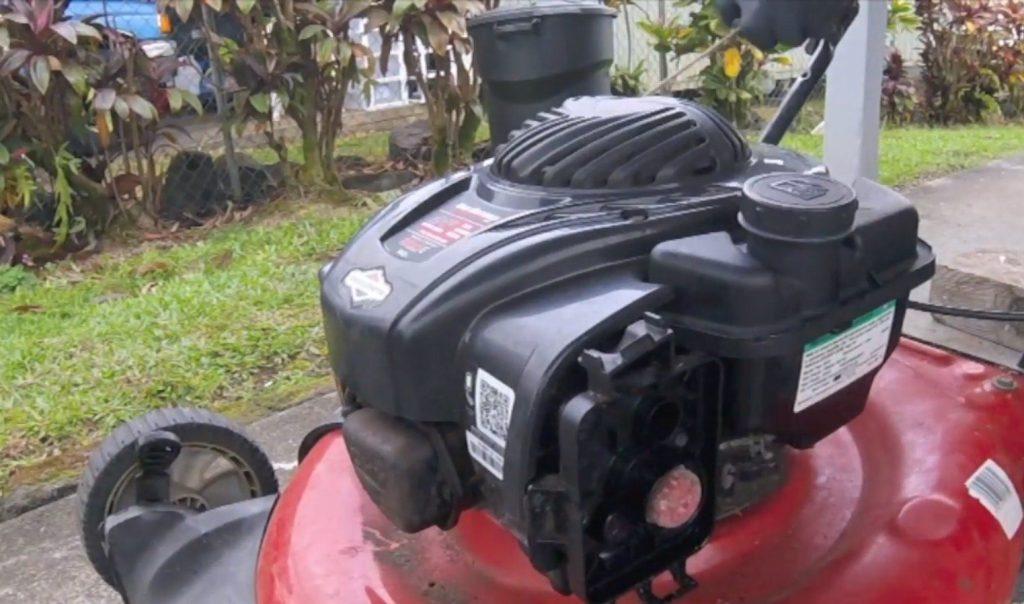 steps to drain lawn mower gas