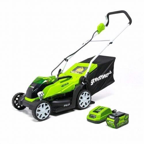 Greenworks MO40B410 Walk Behind Lawn Mower