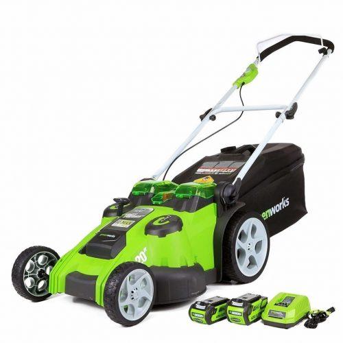 Greenworks25302 Walk Behind Lawn Mower