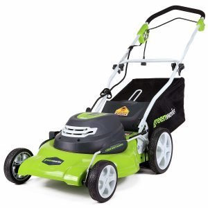 GreenWorks 25022 20-Inch 12 Amp Lawn Mower for Hills